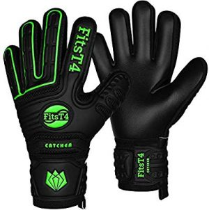 FitsT4 Goalie Goalkeeper Gloves with Fingersaves
